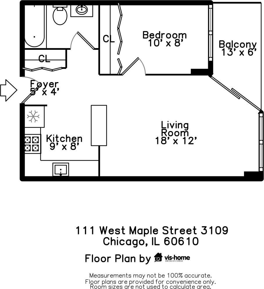 111 W Maple  Street, Unit 3109 photo