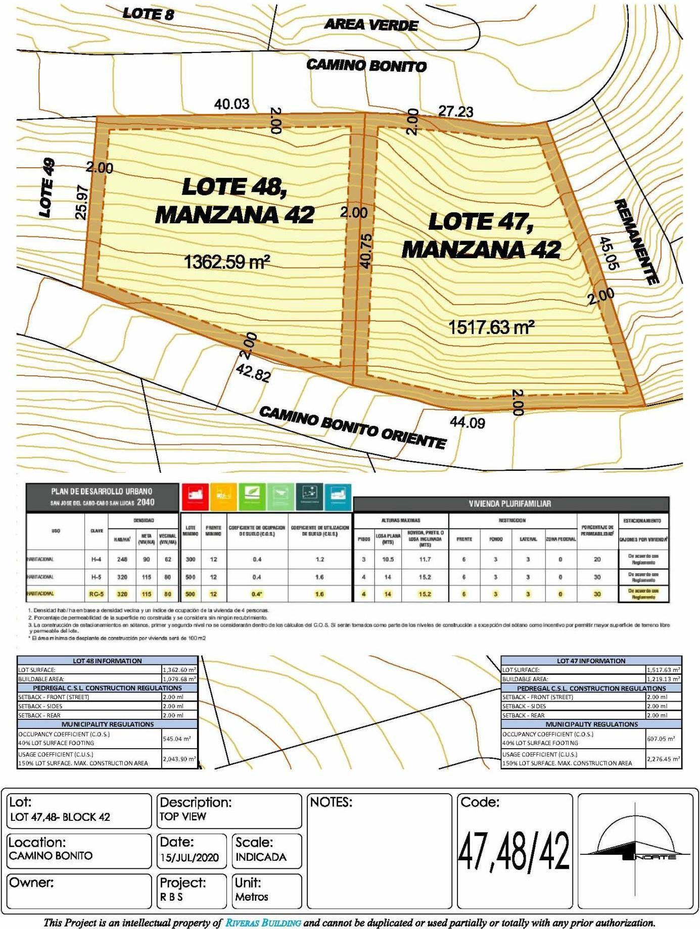 Lot 47/42 Camino Bonito Oriente